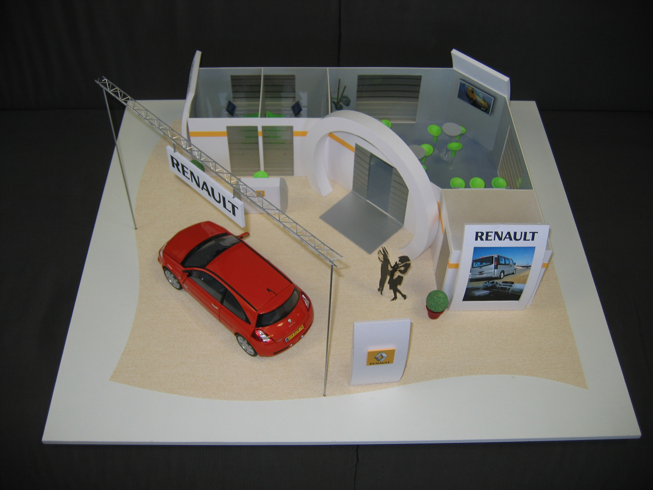 Maquette stand Renault